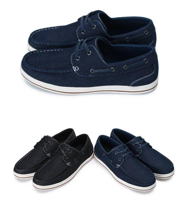 富發牌。男鞋。2CU23  男士率性不羈經典帆船鞋 (藍/黑)(26-28號) ~nanakids娜娜童櫥