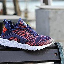 D-BOX NIKE AIR HUARACHE 深藍 紅 編織 個性 運動鞋 情侶鞋 男女慢跑鞋