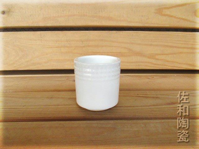 ~佐和陶瓷餐具~【82AD003 方格紋水杯(鎂質瓷)6入】/ 開店 餐廳 水杯 手握杯 強化瓷 /