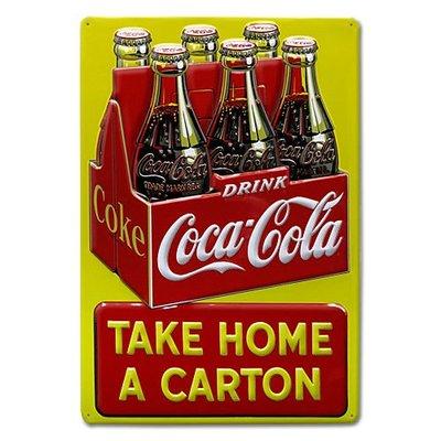 (I LOVE樂多)進口商品Coca Cola可口可樂鋁製看板壁飾.打造居家車庫酒吧/店家裝飾情境自己來