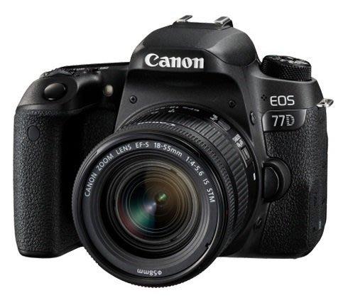 【日產旗艦】Canon EOS 77D 公司貨 +18-55mm(平輸)【送原電+50mm定焦鏡頭9/30止】