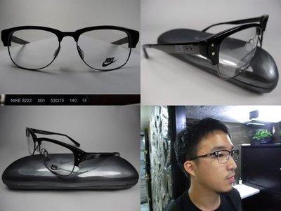 【信義計劃】全新真品 NIKE 眼鏡 復古眉框 上膠框 下金屬框 半框 下無框 Ray 超越 RB 5154 Ban
