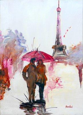 聚鯨Cetacea﹡Art【Paris story II / Rachel】進口油畫 無框畫 手繪油畫 巴黎故事