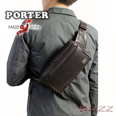巴斯 日標PORTER屋- 二色預購 PORTER AMAZE 牛革斜背-腰包 022-03796