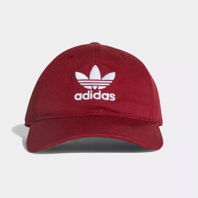 Adidas Originals Trefoil Cap 三葉草 酒紅 老帽 可調式 CD8804 ☆SP☆