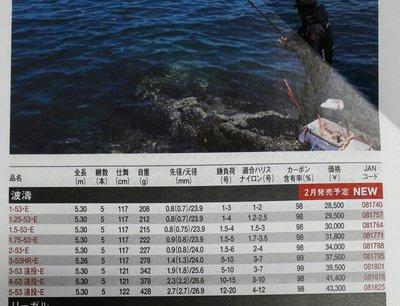 【欣の店】DAIWA 2017 波濤 紅竿 新塗裝 鮮豔紅 1.75-530 高級磯釣竿 近海搏鬥之王
