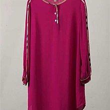 $199- clothes dress top 英倫風 春款經典格仔包邊寶石紅色  舒適顯瘦 長衫連身裙 L