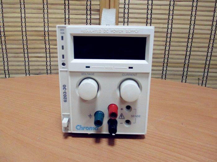 康榮科技二手儀器Chroma 6203-30/RS232(620330)30V10A DC Power Supply