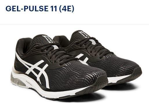 運動GO ASICS 亞瑟士 GEL-PULSE 11 4E 超寬楦 慢跑鞋 1011A708-001 黑白鞋