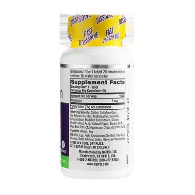 北美旗艦代購~Natrol褪黑素 Melatonin安瓶改善睡眠 快速入睡 緩解失眠5mg90片