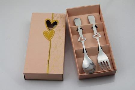 ☆命中注定☆簍空愛心餐具禮盒,婚禮小物,,歐美禮品