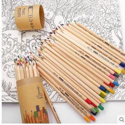 原木彩色環保紙筒裝美術繪畫塗色鉛筆LYH3218