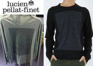 喬瑟芬【lucien pellat-finet】特價$17700含運~灰色 骷顱頭 棉質 長袖 T恤(S~L號)
