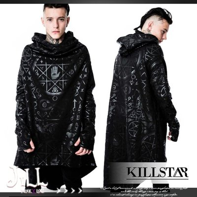 o吉兒o龐克黑暗Cult Ritual邪教儀式金屬印花長版連帽t恤 英國原裝進口Killstar台灣【JKS0014】