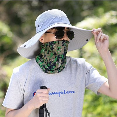 【職業裝】CK7826*遮陽帽男夏季太陽帽防紫外線漁夫帽男防曬釣魚帽遮臉大簷戶外涼帽