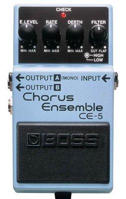 ♪♪學友樂器音響♪♪ Roland BOSS CE-5 Chorus Ensemble 和聲效果器