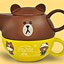 7-11 Hello Kitty X LINE 限量午茶組【下午茶杯壺組單賣 熊大款 】另有玻璃瓶/絨毛玩偶/烤皿