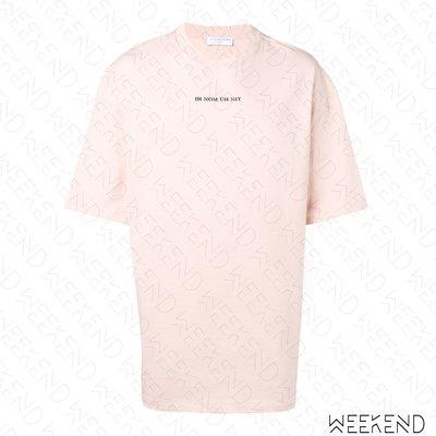 【WEEKEND】 IH NOM UH NIT Logo 男女同款 短袖上衣 T恤 粉色 19春夏