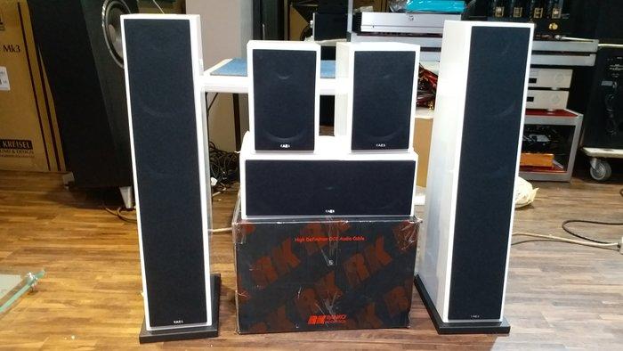 AE 101 103 107 108 英國 5.1.組合式喇叭 白/黑色 鋼烤  贈 TX-SR393 新店音響
