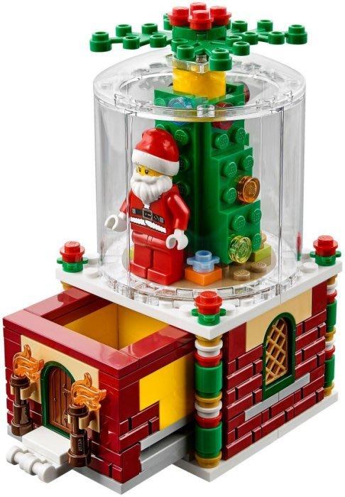 美國聖誕限定【LEGO 樂高】全新正品 益智玩具 積木超夯 / 聖誕老公公抽屜 SNOW GLOBE 40223