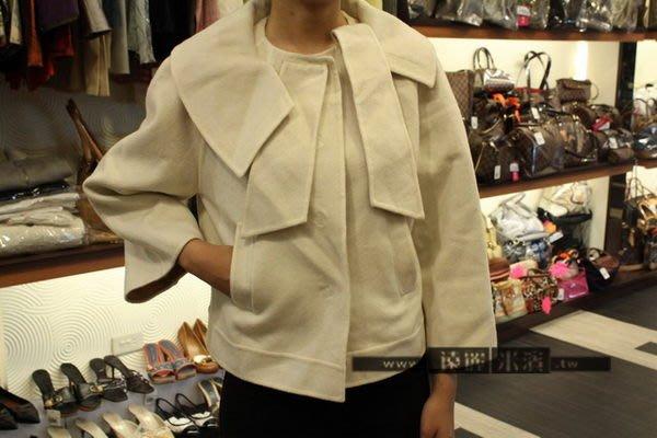 高雄(裕誠店)遠麗米濱全新二手名牌館~k1250 dior 白色 喀什米爾 羊毛 斗篷 外套 (真品)