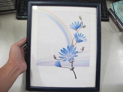 二手舖 NO.198 花卉掛畫 畫框擺件 32X26.5公分