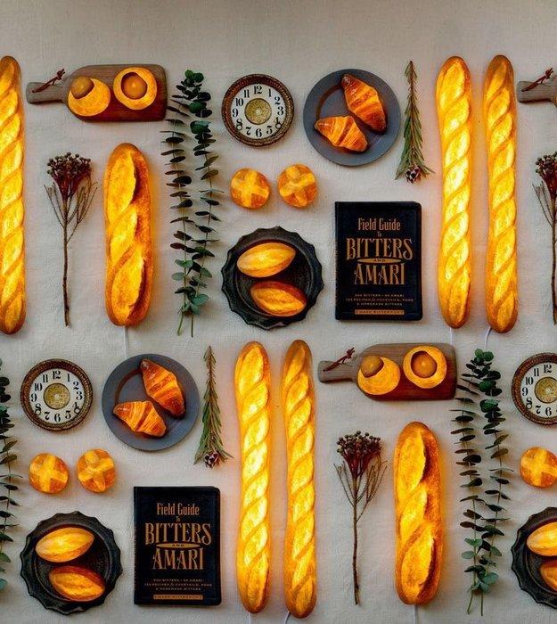 [ Atelier Smile ]  鄉村雜貨 仿真麵包燈 牛角麵包 LED夜燈 創意櫥窗 拍照道具 ins (現+預)