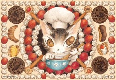 日本進口拼圖 Wachifield 達洋貓  瓦奇斐爾德 草莓蛋糕 300片絕版拼圖 03-867