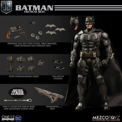 Mezco One:12 Collective 電影版 正義聯盟 戰術 蝙蝠俠.