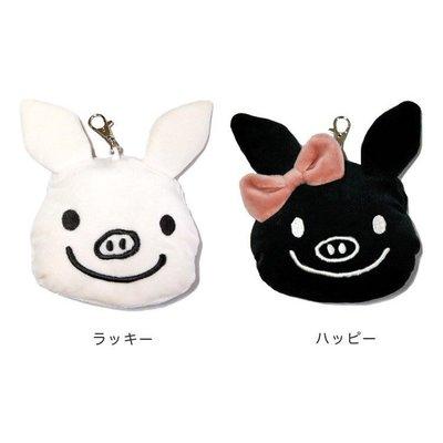 Verna&Co{現貨}日本進口雜貨品牌絨毛娃娃塗鴉小豬零錢包化妝包收納包