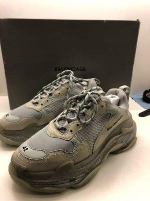 巴黎世家 BALENCIAGA Triple S 氣墊  休閒鞋 灰色 19AW 老爹鞋
