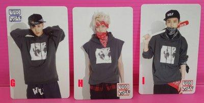 EXO [ 官方印簽小卡] (分團員出售, 下標請注明) 現貨在台 官方週邊 The War