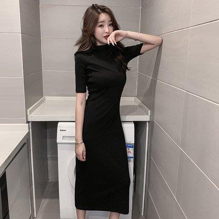 [C.M.平價精品館]新品特價/S~2XL知性品味簡約有型純棉短袖洋裝