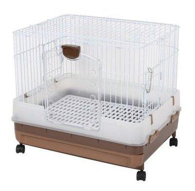 Marukan豪華抽屜式精緻兔籠 天竺鼠籠 小動物飼養籠 MR-994(茶色)三門好開好關,每件2,399元