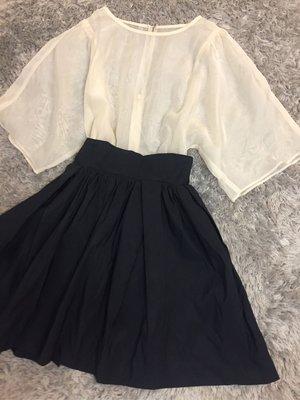 正品FRAY I.D雪紡黑色合身洋裝