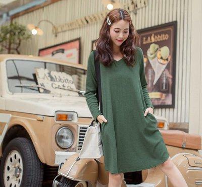 Joy.Joy home 東森購物品牌 韓風  純墨綠色 長版上衣 修飾 針織/羊毛 10% L號 299元起