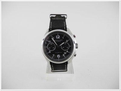 直購價 Hamilton 漢米爾頓 H76416735 飛行員系列自動計時腕錶 41mm 2015年7月購買│53016