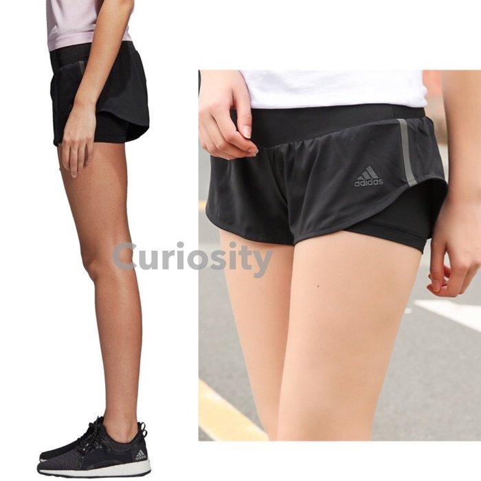 【Curiosity】adidas CLIMALITE吸濕排汗運動超短褲黑XS/S 有內襯內褲$1490↘$1099免運