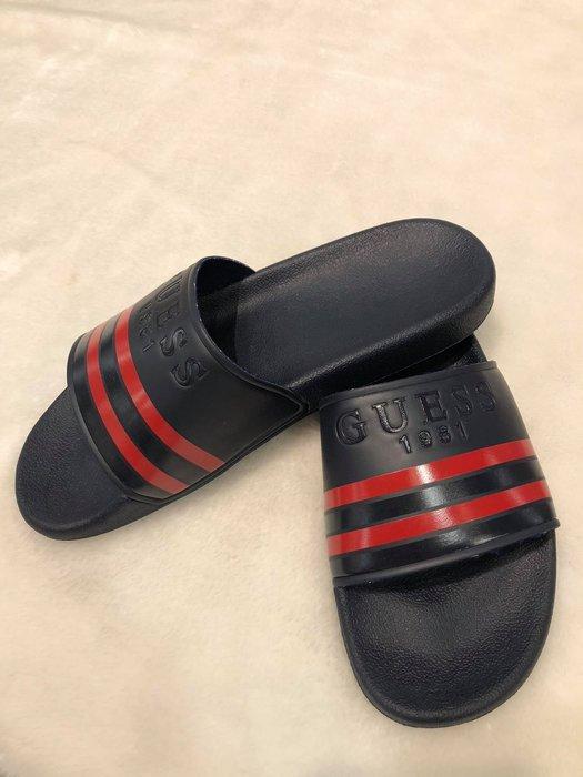 【現貨】GUESS  男生拖鞋 保證正品 歡迎來店參觀選購