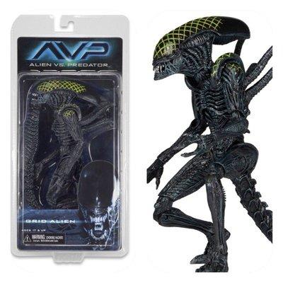 金錢貓雜貨 全新  NECA AVP Alien vs Predator 異形戰場 Grid Alien 戰損網格受傷異