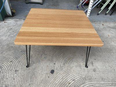 [年強二手傢俱]  圓角小茶几  和室桌 木紋矮桌 折合桌 收納桌 方型矮餐桌 00114426 台中市
