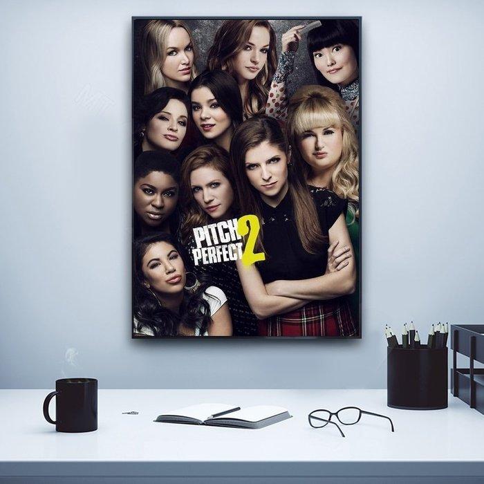 X|設|計 歌喉讚Pitch Perfect經典電影海報裝飾掛畫臥室客廳玄關床頭裝飾掛畫實品屋空間設計裝飾畫(2款可選)