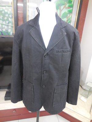 (二手)Hash Puppies 黑色前扣式修身款西裝款休閒外套 (50)
