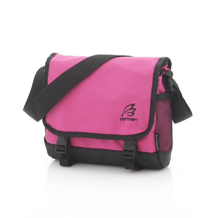 ◎BagTown◎繽紛新品免運上市【PORTMAN】旗艦系列炫彩小郵差包(紫紅色) PM132106