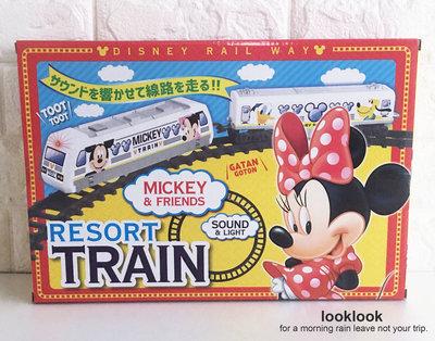 【全新日本景品】迪士尼 經典米奇和米妮好朋友們 玩具小火車 火車軌道組