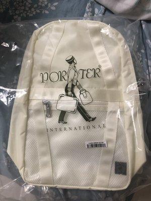 2020 porter官網福袋內容物 米白色porter international BLANK系列 後背包