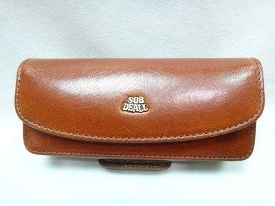*迪奧小店*SOB DEALL穿式手機套(長型)手機袋~粘式手機腰包~隨身品收納腰包~啡~特價