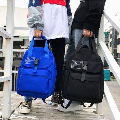 背包男雙肩包韓版青年學生帆布書包女時尚潮流旅行輕便情侶旅行包
