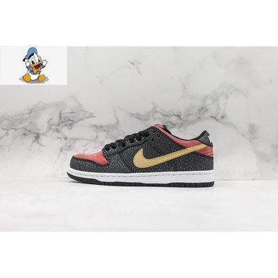 【唐老鴨】Nike Dunk SB Low Walk of Fame 黑紅 休閒板鞋 男女款 504750-076