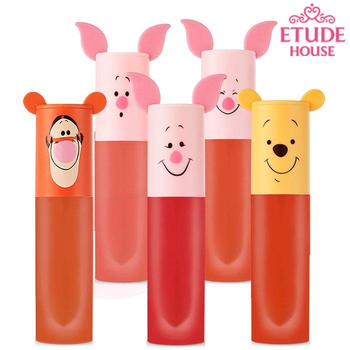 韓國 Etude House x 小熊維尼聯名限量 輕漾絲柔唇釉 Happy with Piglet 2019 迪士尼